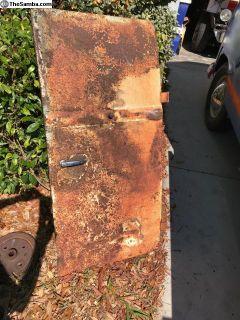 Panel Cargo Door w/ handles locking mech patina