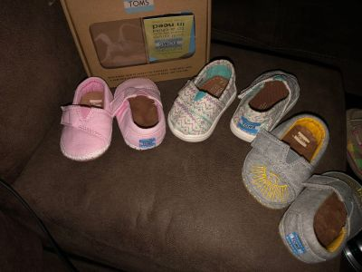 Toms brand baby crib shoes