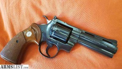 """For Sale: Colt Python 4"""" blue, 1973! Beautiful!"""