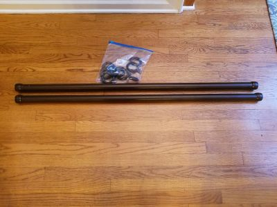 2 50.5 inches curtain rods