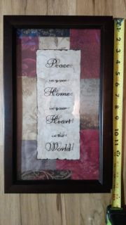 'Peace in Your Home' Decorative Wall Art