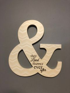 Like New: Wooden & They Lived Happily Ever After Wall our Shelf Decor