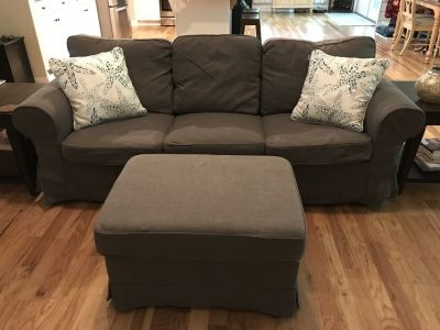 SOFA, matching Ottoman, Chaise lounge, Floor lamp