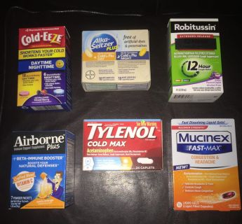Cold/flu medicine bundle! All new/unexpired products!