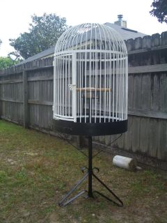"Large 63"" Tall Round Iron Bird Pet Cage"