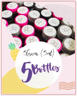 5 Bottles - Acrylic Nail Powder