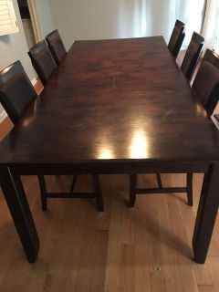 Furniture Row dining room table and chairs