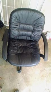 Imitation leather office chair.
