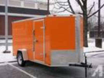 $2,840 New 6 x 12 V-Front Enclosed Cargo Trailers, Rear Ramp Door,LED Lights
