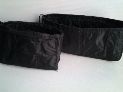 Large/Small Black Purse Organizers