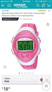 Pink Potty Training Watch