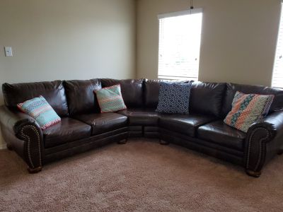 Dark Brown Sectional