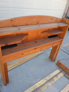 $50, full size bed solid wood  complete no matress