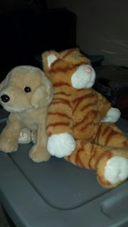 Dog and cat from build a bear