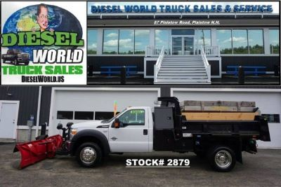 2015 Ford F550 SUPER DUTY Low mileage Diesel Dump Truck w/Plow