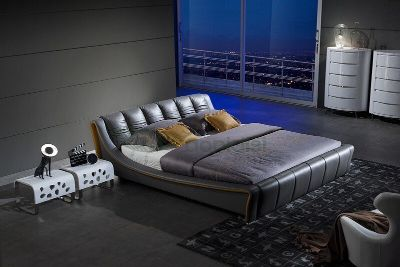 Gray King Bed Frame (Never Opened