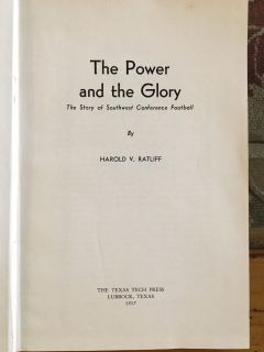 The Power and The Glory Book on Southwest Conf