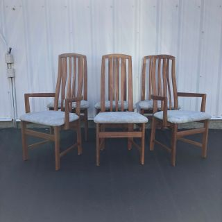 21st Century Modern High Back Dining Chairs - Six