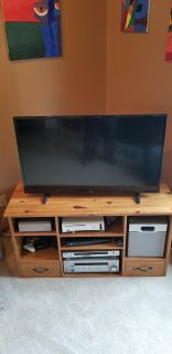 HAND MADE CORNER TV STAND/ENTERTAINMENT CENTER