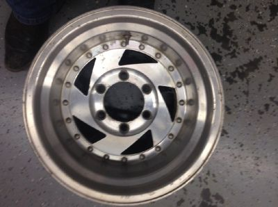 "6 Hole Chevy 15""x10"" incomplete set of 3 rims"