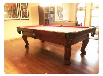 8 ft Chateau by Brunswick slate pool table