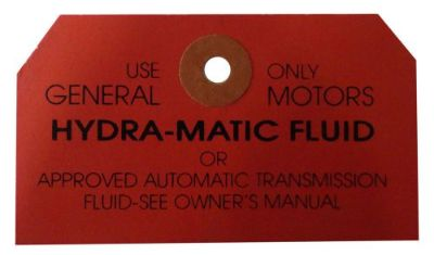 Purchase 1951 1952 1953 1954 1955 1956 Hydramatic Transmission Dipstick Instructions Tag motorcycle in San Diego, California, United States, for US $6.92