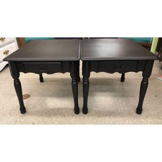 Pair of Black End Tables