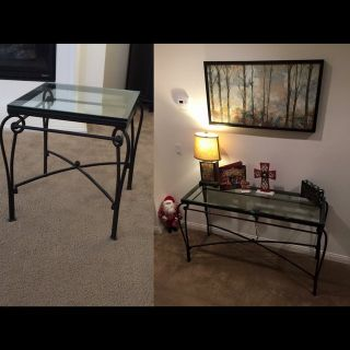 Sofa table and end table