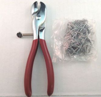 """Buy Hog Ring Pliers with 100-3/4"""" Hog Rings Seat Covers, Upholstery, Fences, Cages motorcycle in Monticello, Minnesota, United States, for US $19.63"""