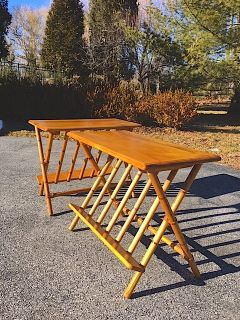 Vintage Heywood Wakefield AshCraft J352 Tables