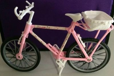 Barbie Doll Sized Toy Country Ride Bike Pink With Removable Basket