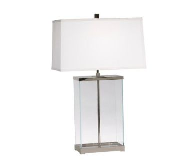 Rectangular Glass Table Lamp