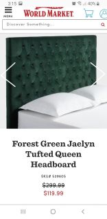 Queen tufted headboard