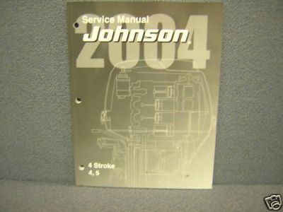 Buy 2004 JOHNSON SERVICE MANUAL 4,5 H.P. FOUR STROKE motorcycle in College Park, Maryland, US, for US $49.95