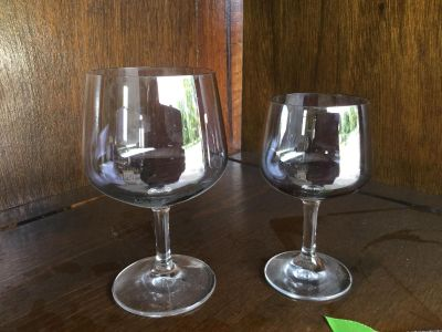 Crystal Water and Wines glasses