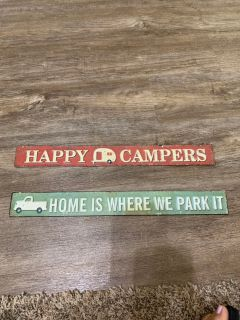 Brand new Camping/camper related signs