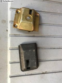 Vanagon sliding door interior latch and cover