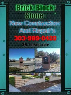 Brick Block & Stone  Bricklayer New Constuction and Repairs