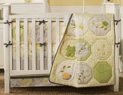Bumble bee crib bedding set