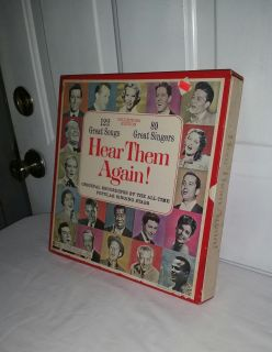 Collectors Edition. Hear them Again. All the greats original recordings..122 songs, 89 singers. SUPER DEAL. $10