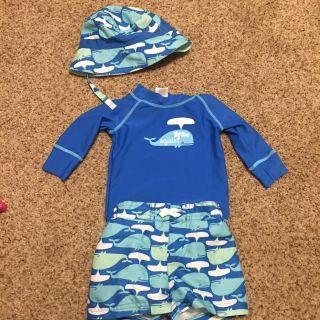 3-6 month swimsuit with hat
