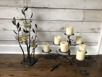 Pair of Candle Table Accents