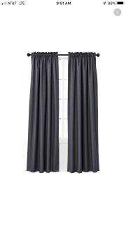 Set of 4 Charcoal grey curtains