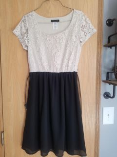 New without Tags cream and black dress