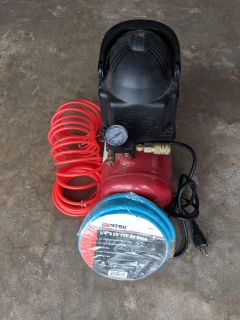 2 gallon air compressor + 25' air hose