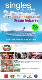 The 2019 VIP SINGLES CRUISE DREAM GETAWAY