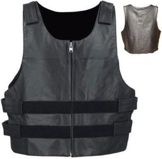 Bulletproof leather motorcycle vest