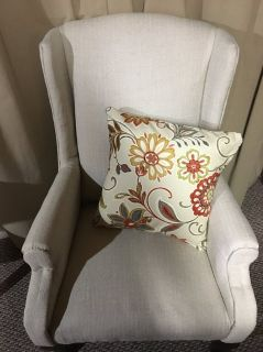 PRICE REDUCED! Small Solid Wood Wing Chair - Newly Reupholstered