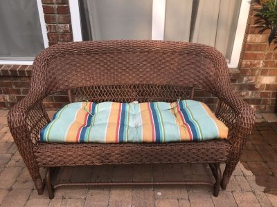 Outdoor Glider Sofa Loveseat with Cushion