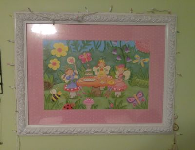 Fairy Tea Party Framed Picture From Hobby Lobby
